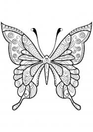 One of the most simple insect to color for your children. Butterflies Free Printable Coloring Pages For Kids