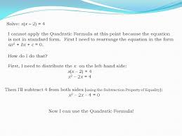 there is a connection between the solutions from the quadratic formula and the graph of the