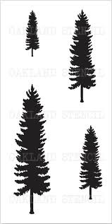 evergreen sheet metal christmas pine tree 2 stencil 4 on one sheet for painting signs