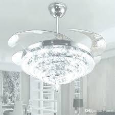 crystal chandelier ceiling fan combo led lights invisible regarding decorati crystal chandelier ceiling fan
