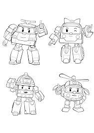 Personaggi Di Robocar Poli Disegni Da Colorare Rocco Giocattoli