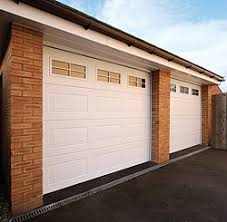 garage doors with windows. Pair Of Carteck Panelled 42mm Insulated Doors With Optional Windows Garage