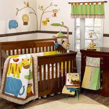 ... Fair Image Of Baby Nursery Room Decoration With Jungle Themed Baby  Bedding : Epic Picture Of ...