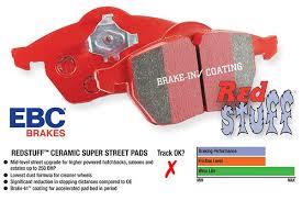 Ebc Brake Pads Chart Ebc Red Stuff Brake Pads