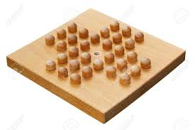 Wooden Board Game With Pegs Wooden Peg Solitaire Board Crafted From Wood A Popular Indoor 19
