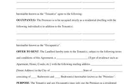 Sample Home Rental Agreement document template : Free Rental Contract cease and desist letter ...