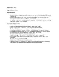 App Developer Job Description Sample Resume For Web Designer