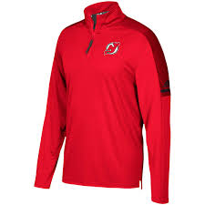 adidas quarter zip. men\u0027s new jersey devils adidas red authentic pro quarter-zip jacket quarter zip s