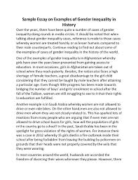 essay on gender inequality co essay on gender inequality