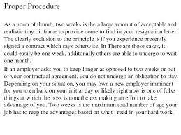 1 Week Resignation Letter Sample Rightarrow Template Database