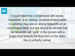 can you use a rectangle tablecloth on an oval table