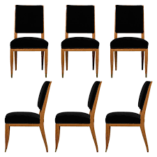 set of six fine french art deco chairs by lucien rollin 1 art deco chairs