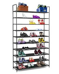 Home Basics 10 Tier Coated Non Woven Shoe Rack Amazon Halter 100 Tier Stainless Steel Shoe Rack Shoe Storage 34
