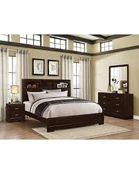 Roundhill Furniture Montana Modern 4 Piece Wood Bedroom Set With Bed,  Dresser, Mirror