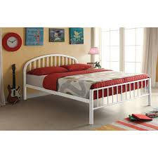 Mission Style Queen Bed Frame Shop Cailyn White Twin Bed Free ...