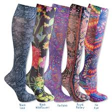 Patterned Compression Stockings