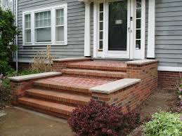 Exteriors : Traditional Front Porch Decoration Using Aged Brick ...