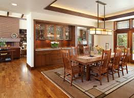 craftsman lighting dining room. rustic buffet and hutch dining room craftsman with recessed ceiling style light fixture tray lighting