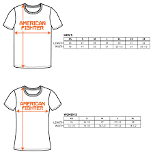 Affliction T Shirt Size Chart Sizing Chart American Fighter