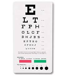 Ncd Medical Snellen Pocket Eye Chart