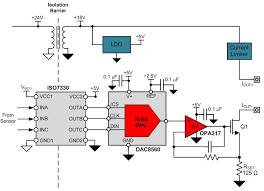 how to design fully isolated 4 wire sensor transmitters figure 2 isolated transmitter output stage for fully isolated 4 wire transmitters