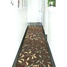 latex backed area rugs collection contemporary leaves design chocolate 3 ft x runner rug n 4x6