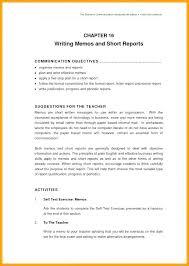 Short Business Report Sample Short Business Report Template Short Business Report