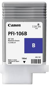<b>PFI</b>-<b>106B</b> - Pigment <b>Blue</b> Ink Tank <b>130ml</b> for <b>Canon</b> iPF6400 and ...
