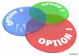 Art Venn Diagram Photo Art Print Option 1 2 3 Choices Decide Venn Diagram 3d
