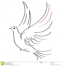 эскиз голубя иллюстрация вектора иллюстрации насчитывающей свобода