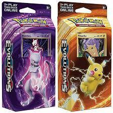 Pokemon Mewtwo & Pikachu XY Evolutions TCG Card Game Decks - 60 Cards Each:  Amazon.de: Spielzeug