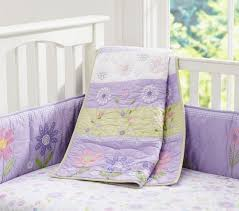 daisy garden baby bedding set pottery barn kids