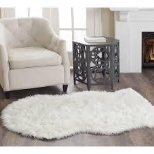 beautiful faux fur rug for flooring decor ideas nice white sofa plus faux sheepskin rug