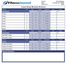 Weight Training Logs Understanding And Using A Weight Training Log