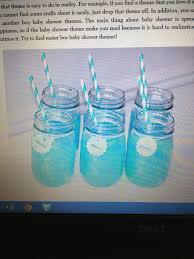 mix blue kool aid and lemonade for baby boy baby shower drink ideas