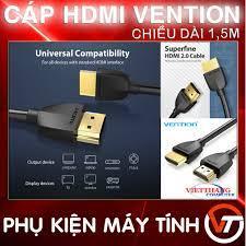 Cáp HDMI Vention mỏng nhẹ hỗ trợ 4K Độ dài 1,5m ( Dây HDMI 1,5m ) - Hàng  chất lượng cao ! tại Thái Nguyên