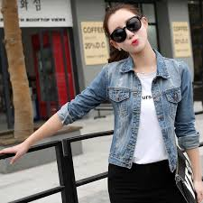 Buy New Spring <b>Autumn Vintage 2017</b> Denim Jacket <b>Women</b> ...