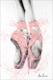 pretty pointe ballet shoes posters and