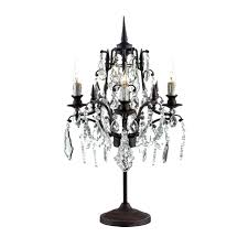 chandelier table lamp gold black style