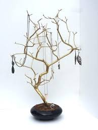tree necklace holder bird jewelry display stand earring bracelet rack