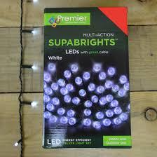 Supabright Led Lights Details About 30m 380 Led Premier Multi Action Supabright Christmas Light Set Cool White