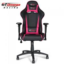 gt omega pro racing office chair black next pink leather