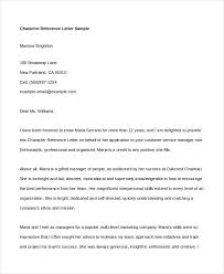 Sample Of A Character Letter Sample Character Reference Letter Shared By Terrell Scalsys