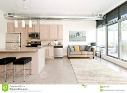 Modern Kitchen Living Room Modern Condo Kitchen And Living Room Stock Photo Image 26857290