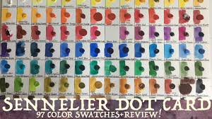 Sennelier Watercolor Dot Card Swatching Review