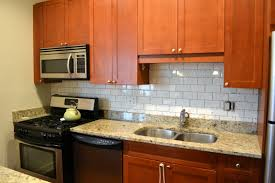 Backsplashes For Kitchen Subway Tile In Kitchen Install A Kitchen Backsplash Without