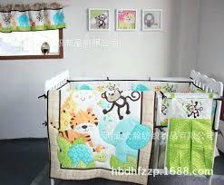 crib bedding set for boys cotton baby bedding set embroidery elephant tiger monkey bird baby boy kit crib cot bedding sets boy bedding sets kids twin