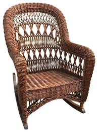 wicker rocking chair. Wicker Rocker Antique Sewing . Rocking Chair