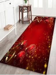 [44% OFF] Red <b>Christmas Balls</b> Pattern Non-slip Area Rug   Rosegal