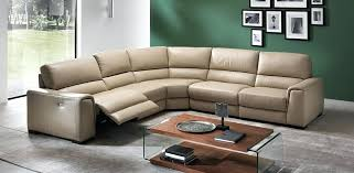 leather reclining sectional recliner editions natuzzi power